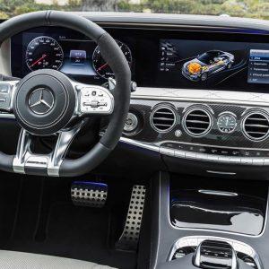 Защитное полимерное стекло Mercedes-Benz s-class (w222) Комплект